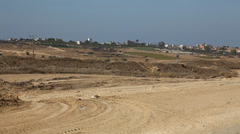 The view near Gaza Terror Tunnel Uncovered on Israeli Side of the Security Fence Stock Footage