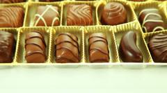 Chocolates praline box Stock Footage