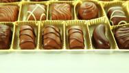 Stock Video Footage of Chocolates praline box