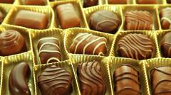 Mixed chocolates box Stock Footage