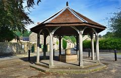 Bandstand in Ashford-In-The-Water, Derbyshire Stock Photos