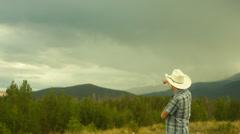 observing lightning bolt - stock footage