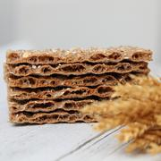 Wheat crackers or crispbread Stock Photos