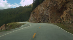 Rocky road colorado rural mountains Stock Footage