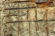 Stock Photo of rusty reinforced concrete structures