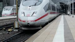 Departing ICE train Stock Footage