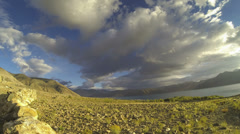 Pangong lake cloudscape from village time lapse Ladakh India - stock footage