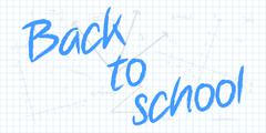 To School Text With Mathematical Geometry Background Stock Illustration