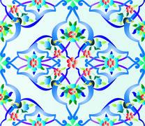 Ottoman tile Stock Illustration