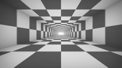 Black and white abstract tonnel repeatly Stock Footage