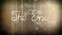 The end old movie animation alpha Stock Footage