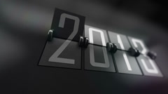 New Year 2014 Calendar with flipping pages. Stock Footage