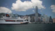 Stock Video Footage of 206 floating cruise luxury liner, Hong Kong