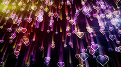 Falling hearts romantic loop background Stock Footage