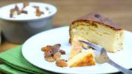 Stock Video Footage of Curd Pudding with Raisins - Freshly Baked