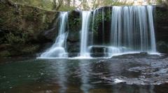 Nature Rainforest Waterfall - Slow Shutter - stock footage