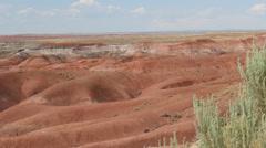 Desert Hills Pan Left Stock Footage