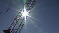 Crane with Sun Spike - stock footage