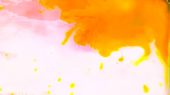 Colorful abstract watercolor texture Stock Footage