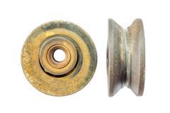 old rusty metal ball bearing - stock photo
