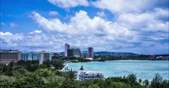 Tumon, Guam Timelapse 4K Version Stock Footage