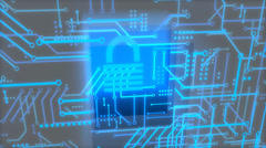 Digital security concept animation, encrypte, data, secure. Stock Footage