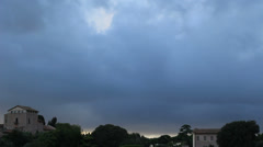 Rome cloudy sky (ideal for titles) Stock Footage