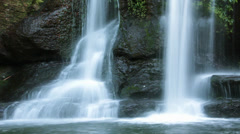 Rainforest Waterfall - Slow Shutter Stock Footage