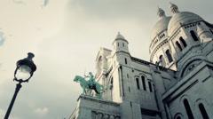 Sacre Coeur Basilica Paris, France - Full HD Stock Footage