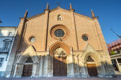 asti, san secondo church - stock photo