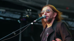 Russian rock band Bi-2 live performance at the rock festival The Best City.UA Stock Footage