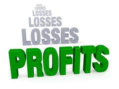 Stock Illustration of profits after losses