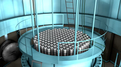 Artist rendering, Nuclear reactor interior view, reactor, power. - stock footage