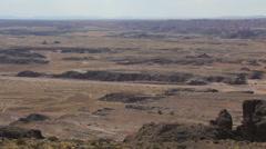 Desert Landscape with Sun Flare Pan Left Stock Footage