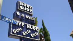 Body Shop sign Stock Footage