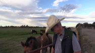 Stock Video Footage of cowboy sheriff, rancher