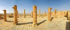ancient ruins of town of avdat in israel. - stock photo