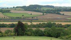 Express Train Passing through the British Countryside - stock footage