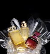 Generic bottles of perfume in a gift set Stock Photos