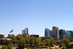 sacramento cityscape view - stock photo
