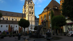 Tilt Boppard Rhine Valley Town Hall Rhineland-Palatinate Germany - stock footage