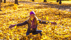 Beauty during autumn Stock Footage
