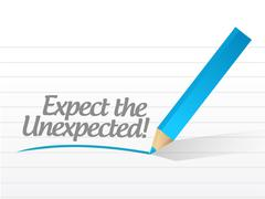 Expect the unexpected written message Stock Illustration