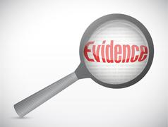 Evidence under research illustration design Stock Illustration