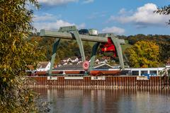 danube port deggendorf - stock photo