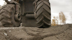 tractor on the road - stock footage