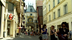 Le Gros Horloge - The Big Clock (6) - Rouen France Stock Footage