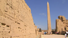 LUXOR, EGYPT - A view of the Luxor Temple, Luxor, Egypt Stock Footage