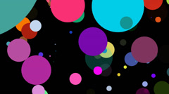 Big Colorful Dots Blinking on a Black Background Stock Footage