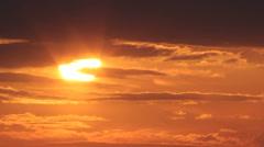 Lähikuva Auringon nousu Auringonnousu intervallikuvaus Arkistovideo